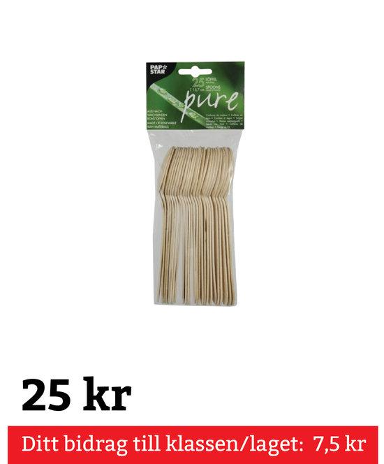 "Sked Trä ""Pure"" 15,7 cm 25 Pack"