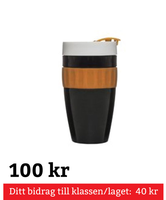 To Go Mugg Svart,Orange,Vit