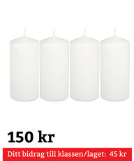 Blockljus Vita 4-pack 150 mm