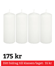 Blockljus Vita 4-pack 180 mm
