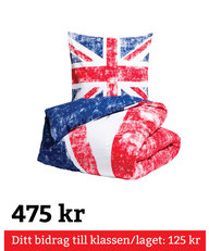 Queen Anne Union Jack Bäddset Tvåskaft