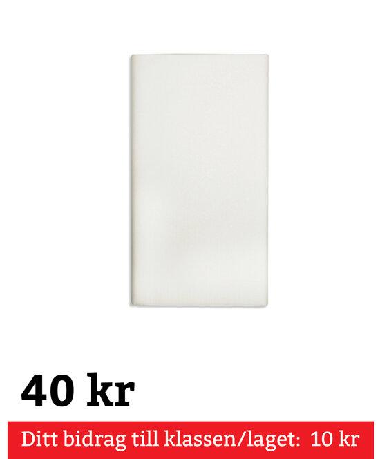 """Bordsduk, Vikt """"Pure"""" 120 cm x 180 cm Vit"""