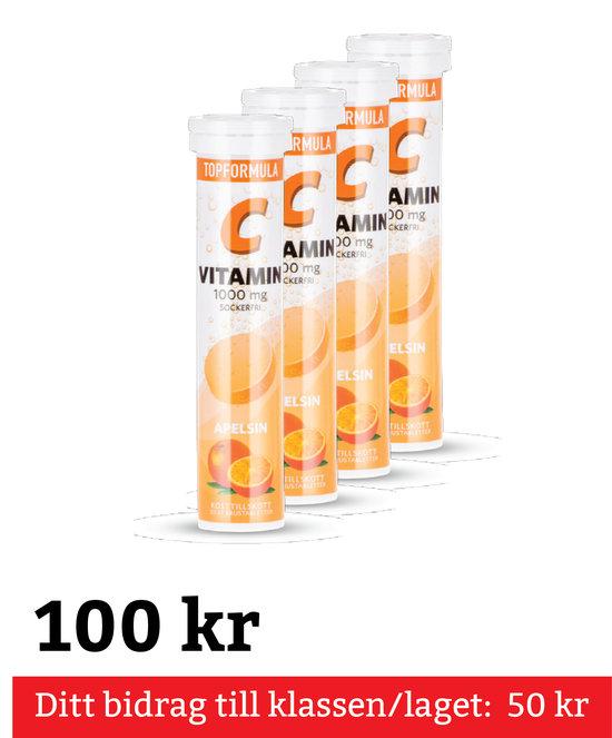 C-Vitamin Brustablett Apelsin 4-Pack