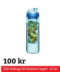 Flaska Med Kolv För Frukt Blå