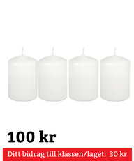 Blockljus Vita 4-pack 100 mm