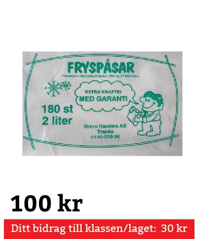 Fryspåsar 2 Liter 180 st
